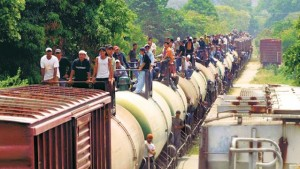 Central American migrants, many of whom aspiring to enter the US via the human pipeline supported by Mexico's cartels