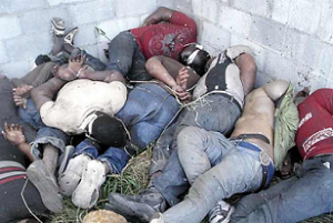 Central American migrants allegedly slaughtered by the Zetas (San Fernando, Tamaulipas, Mexico, Aug 2010)